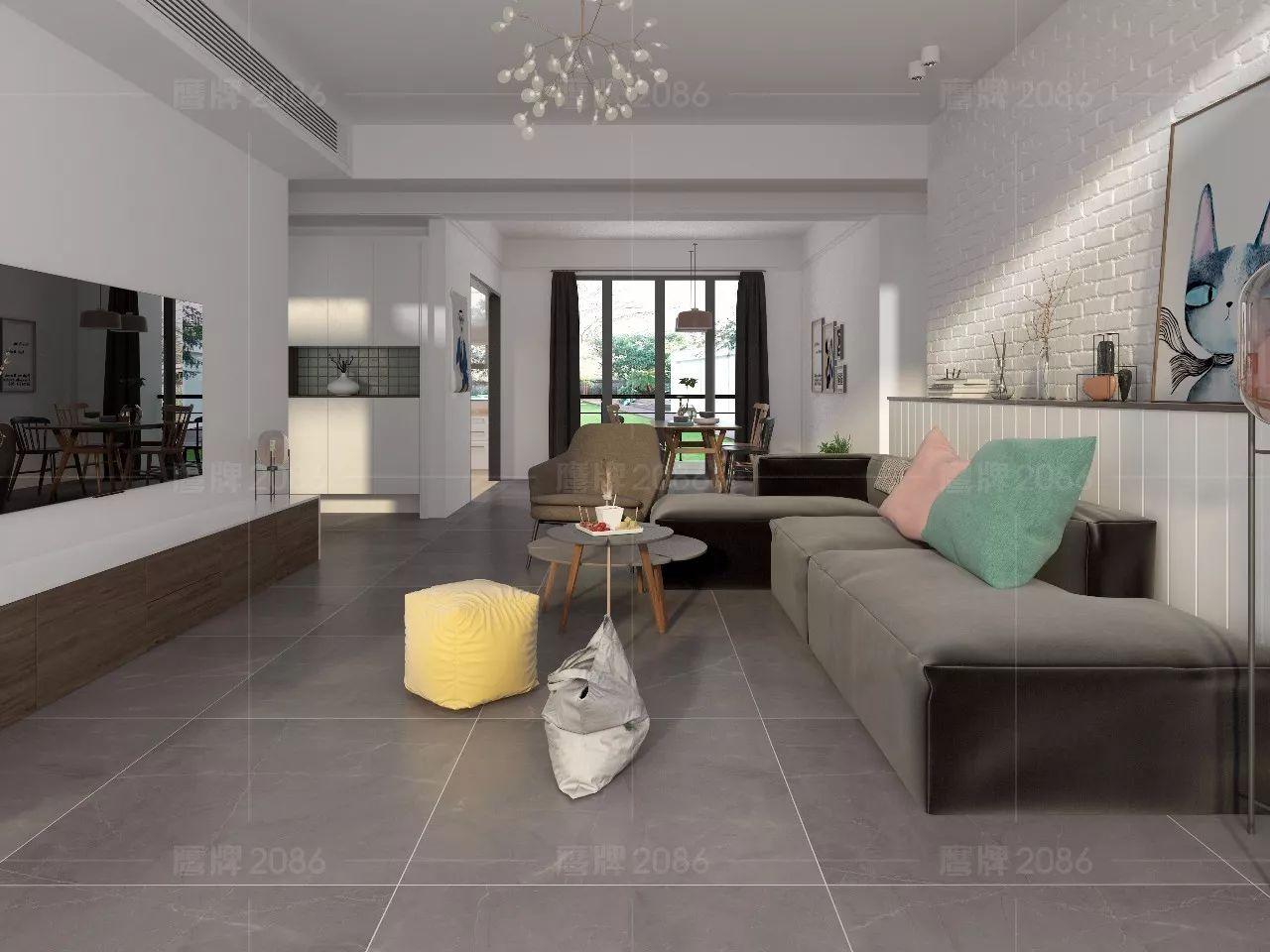 宅家看设计——鹰牌2086北欧风全屋设计方案